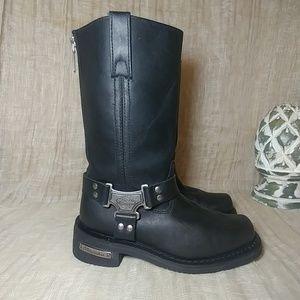 Motorcycle Boots, Milwaukee Women's, Sz 7C